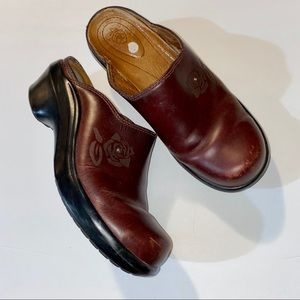 Ariat Brown Leather Clogs 5